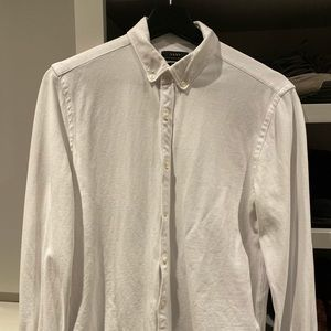 Zara White Textured Basic Shirt - Jersey like